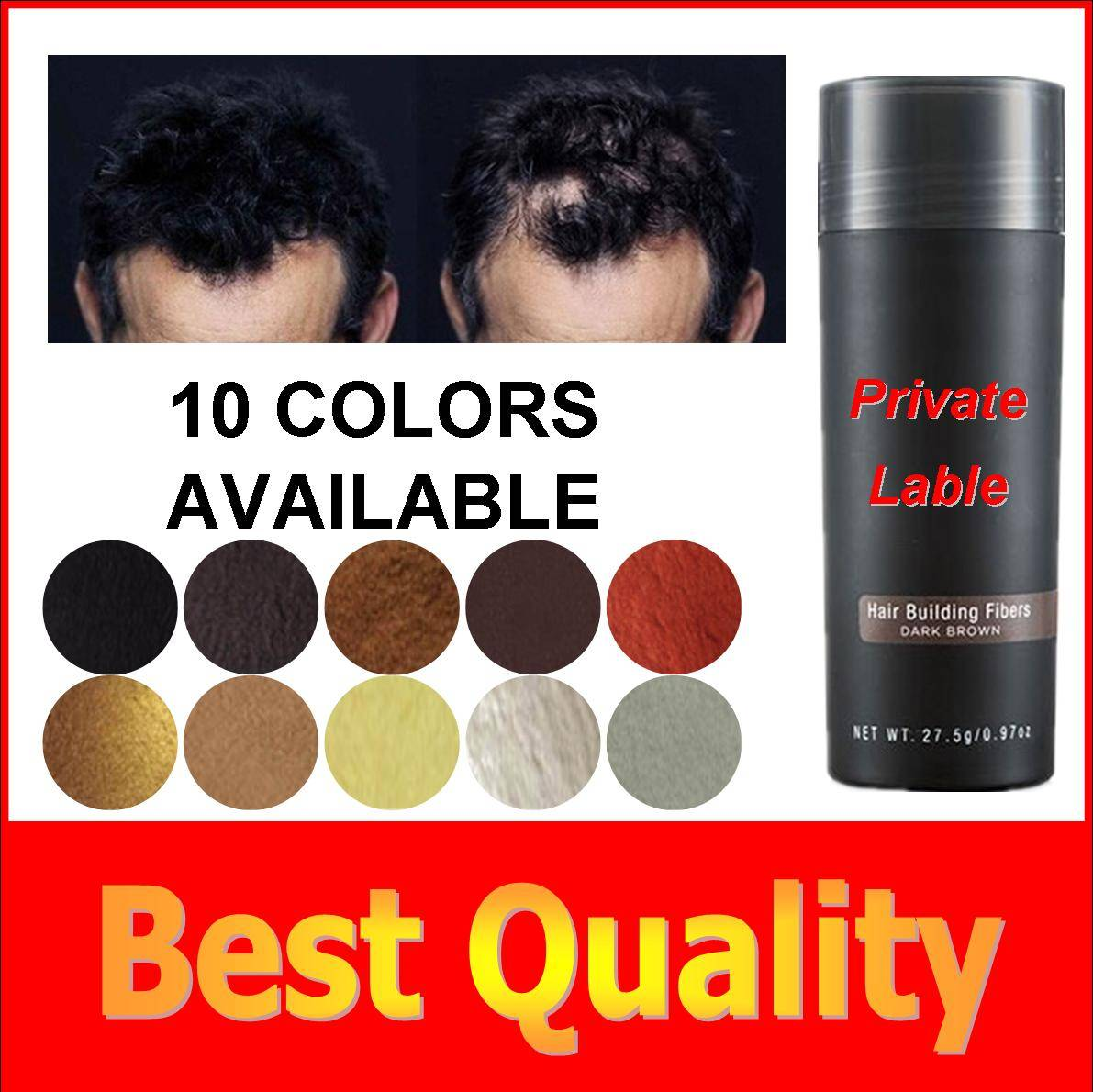 OEM Private label keratin protein hair fiber products,small quantity