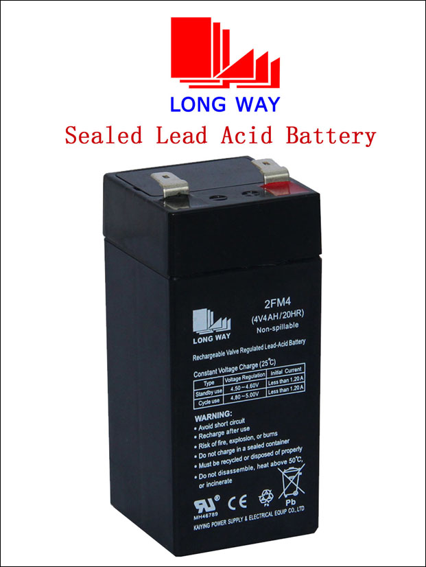 4V4ah Lead Acid Battery Manufacturer AGM Battery for Toys