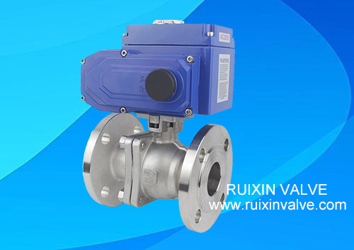 China Floating Ball Valve With Electric Actuator