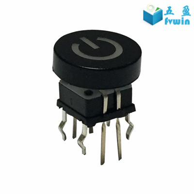 RGB Illuminated Power 6 pin LED Tact Switch