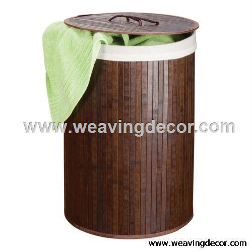 Eco-friendly and durable bamboo laundry basket for dirty clothes from manufacturer