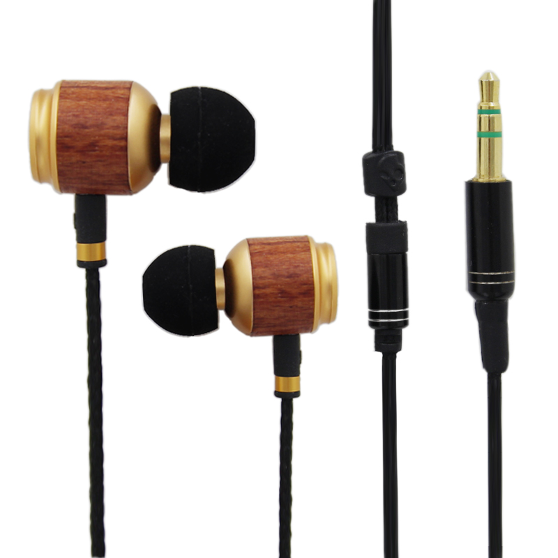 Manufacturer Wholesale High Quality Cheap Wood Mobile Earphone