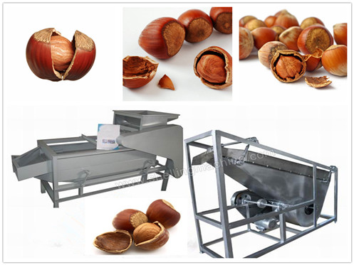 (200-300 kg/h) Hazelnut Shelling Machine and Separator
