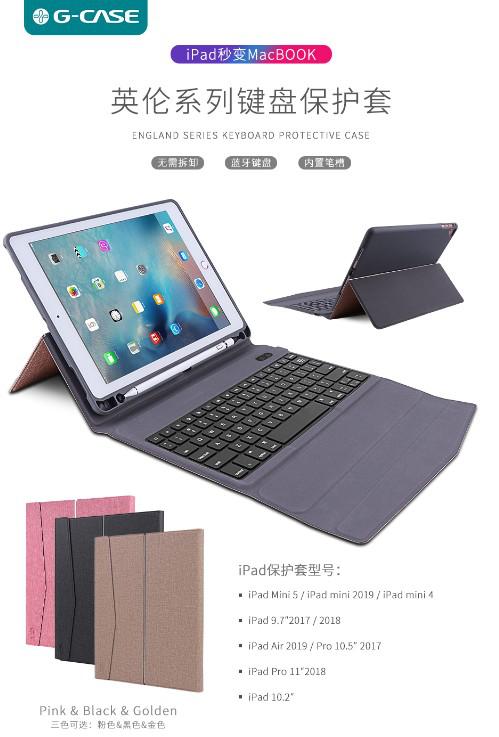 Wholesale England Series Bluetooth Keyboard Protective Case Mac Book for iPad/iPad Mini/iPad PRO/iPa