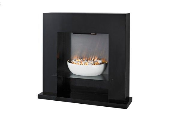 LED MDF Free Standing Electric Fireplace Heater LJSF4003