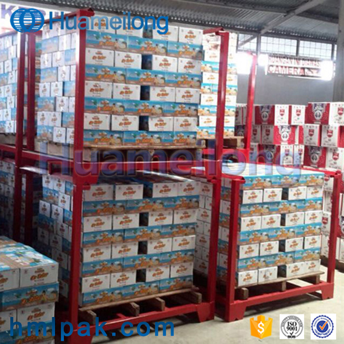 Foldable hot sale metal industrial warehouse storage portable stacking nestainer racks