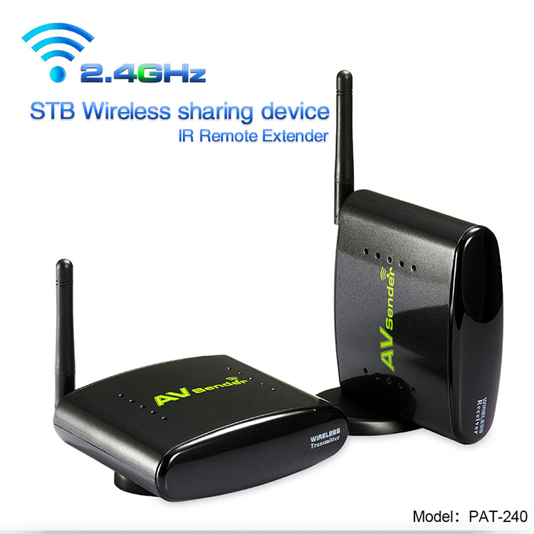 PAKITE 250 Meter Multi Room TV to TV 2.4GHz Digital Wireless Transmitter and Receiver PAT-240