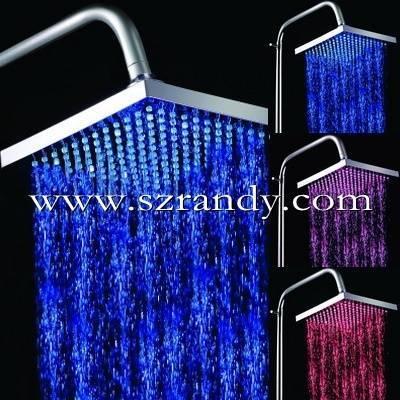 200mm*200mm squre big rain led overhead shower