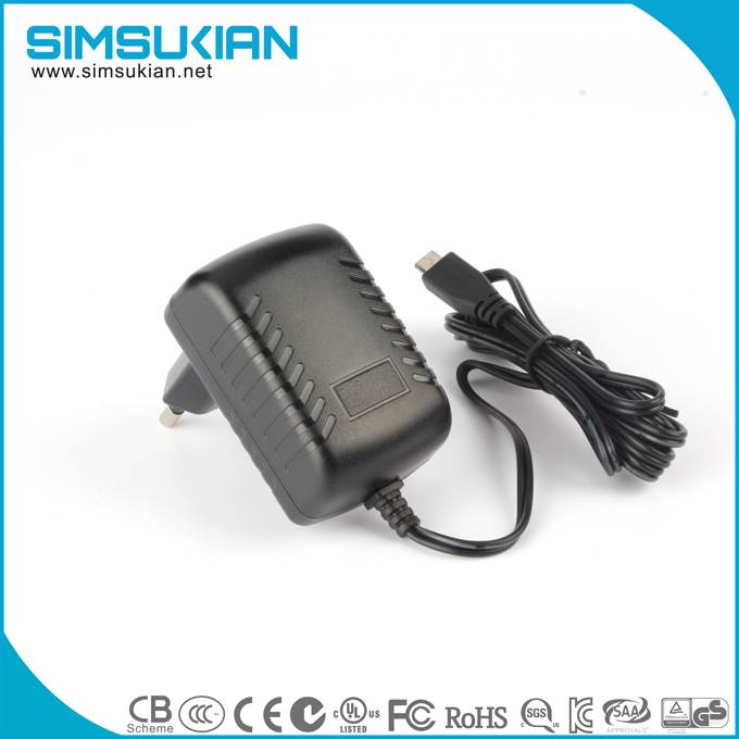KC PSE UL CE GS SAA safety marked 12v2a ac dc wall mount power adapter