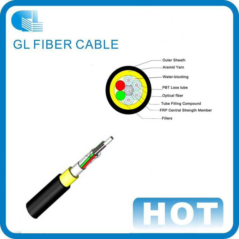 ADSS Cable Sm, G652D with Non-Armored Central Strength Member, Non-Metallic Component Cable