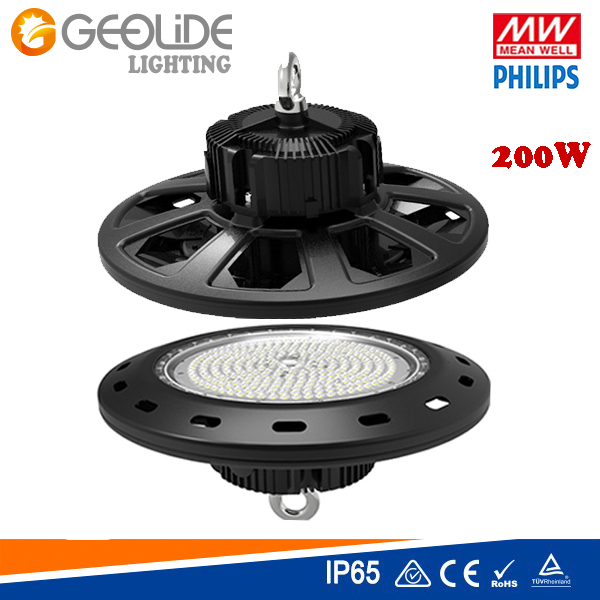IP65 Quality Philps SMD 3030 UFO LED High Bay Light with Meanwell Driver IP65 Ce RoHS (HBL101A-200W)
