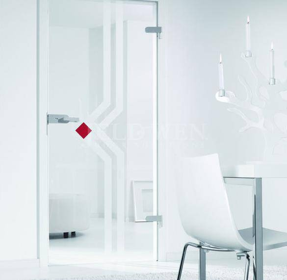 interior glass swing door