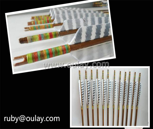 Complete self-nock bamboo arrows