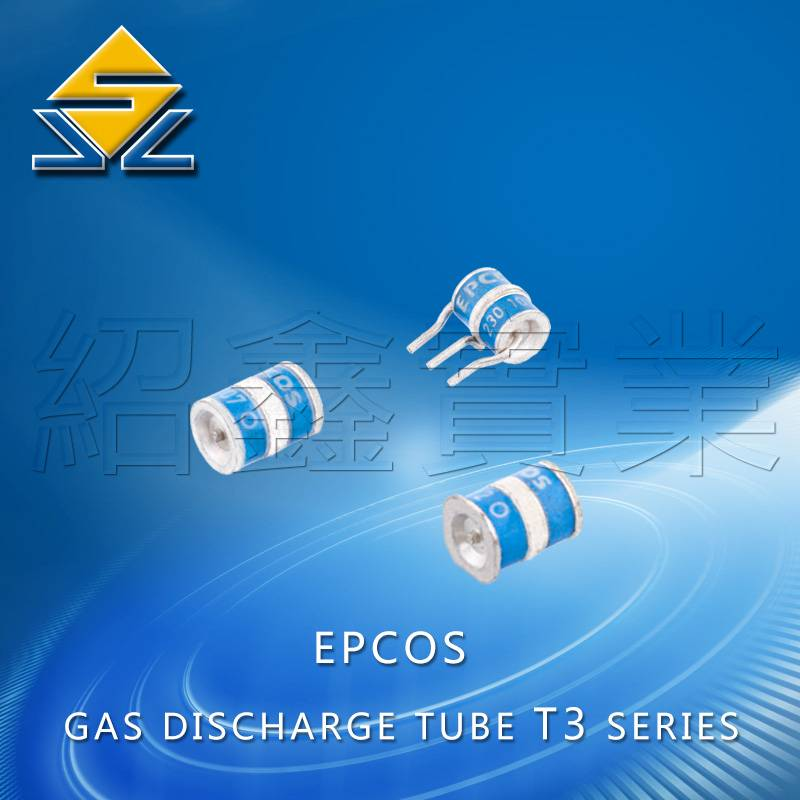 3-pole T3 Series gas discharge tube with 10KA 6*8mm