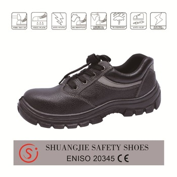 safety shoes work boots 9713 embossed leather pu outsole