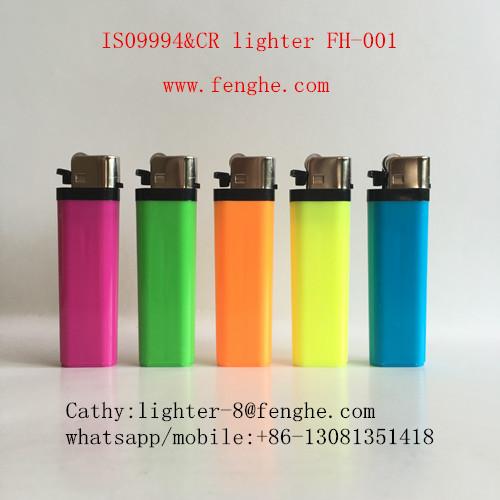 FH-001 China factory wholesale lighter CR disposable flint cigarette lighter