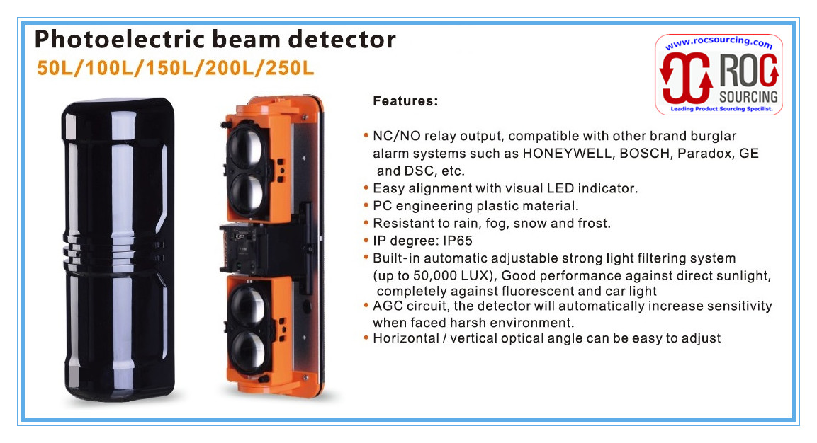 Hotsell NEW 4 beams Photoelectric beam Detector Motion Sensor for Perimeter Pretection Alarm System