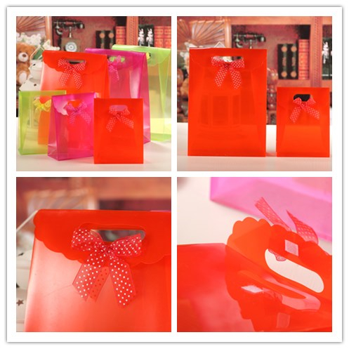 Colored PP transparent Bag Gift Promotion Bag