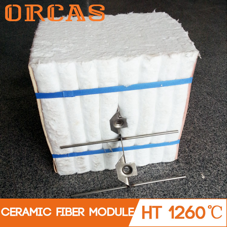 Fireproof lightweight white blocks 1260 ceramic fiber module
