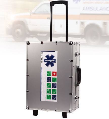 Integrated Aluminum First-aid Kit with Trolley
