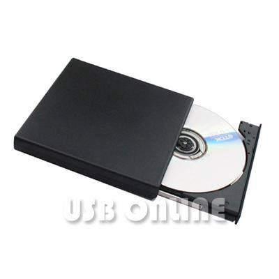 USB Slim External Rewriteable DVD +/- RW Drive, DVD Burner
