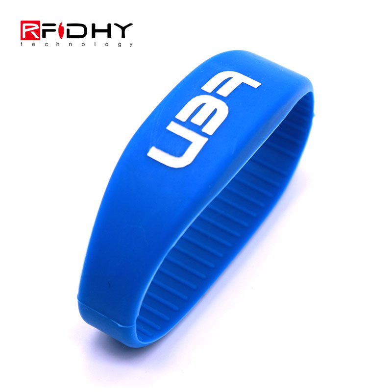 New Product Multi-color RFID NFC Silicone Wristband in Watch Shape