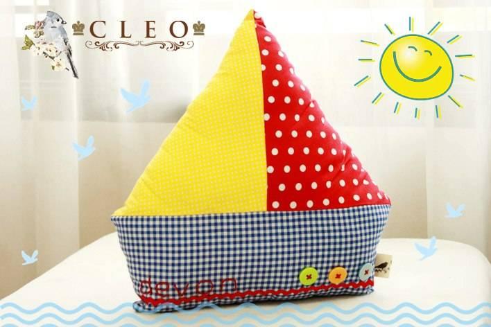 Cute Boat Plushie Pillow