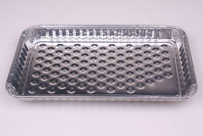 Rolled Edge Oblong Disposable Aluminum Foil Food Container BBQ Grill Tray Party Pan Instant Girll  L