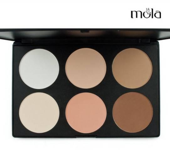 6 color makeup contour palettes