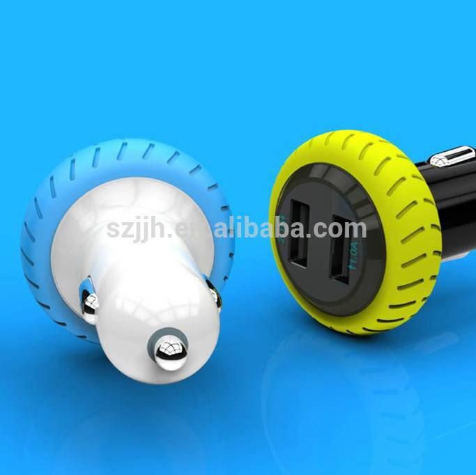 2 USB 1A 2.1A 3.1A  car charger coloful portable quick lowest price