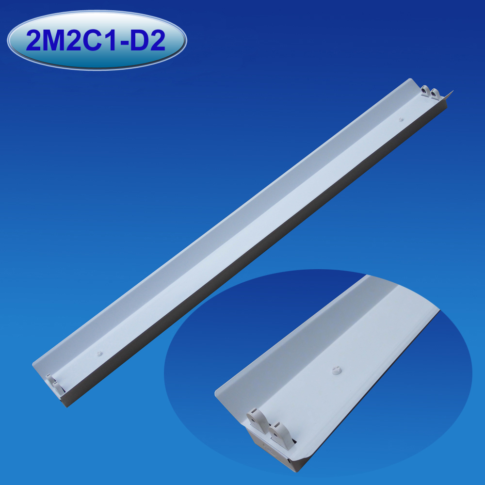 led fixture double led/fluorescent tube light fixture with reflector