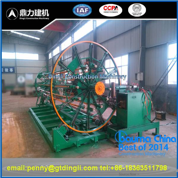 Concrete pipe wire cage welding machine