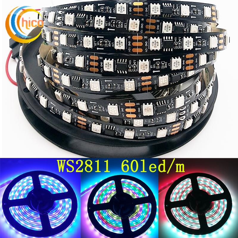 LED Strip WS2811 Smart Ribbon Light SMD 5050 RGB led strip Waterproof IP20 IP65 IP67