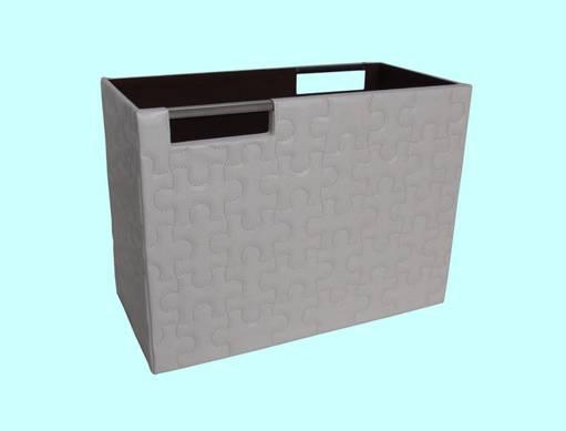 Puzzle Storage Baskets  & Magazine Holder in Shinning Leather