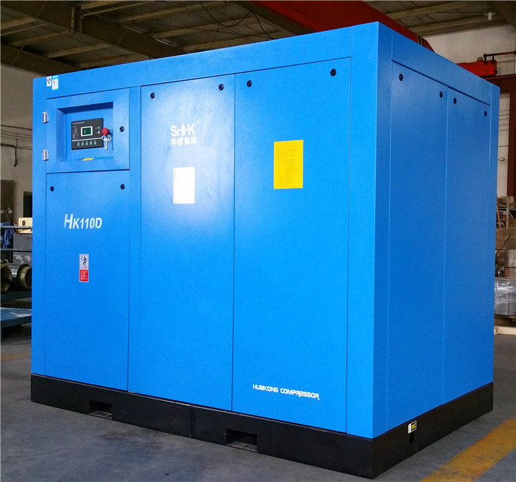 AC power direct driven screw air compressors with inverter 110kw