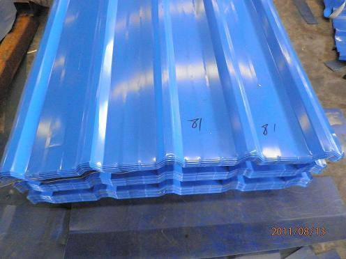 color corrugated steel roofing