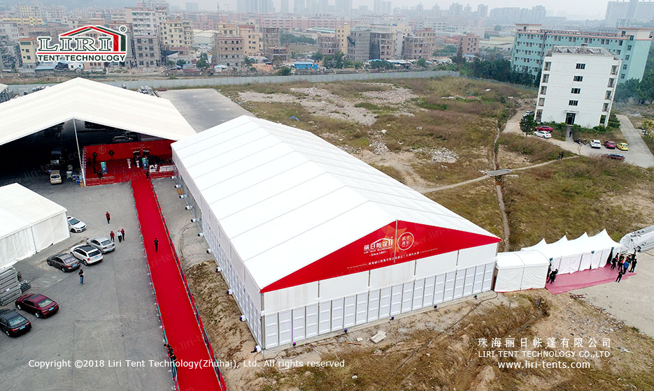Outdoor party event canopy tent marquee with customized logo for sale