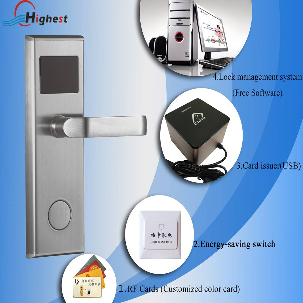 Furniture lock security entry door smart electronic hotel lock