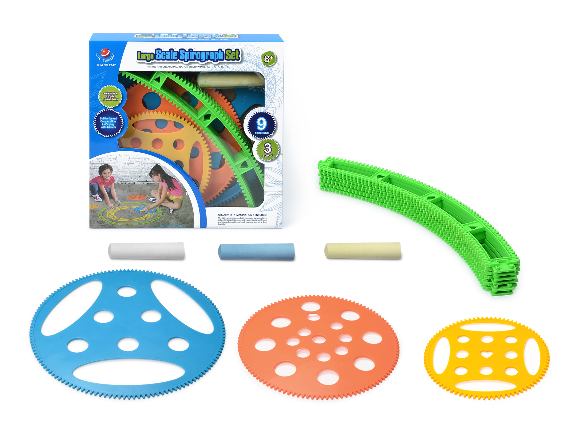 Large Scale Spirograph Set