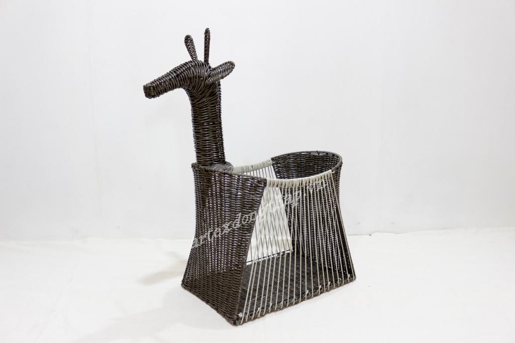 Hot trend poly rattan animal basket - CH4087A-1MC