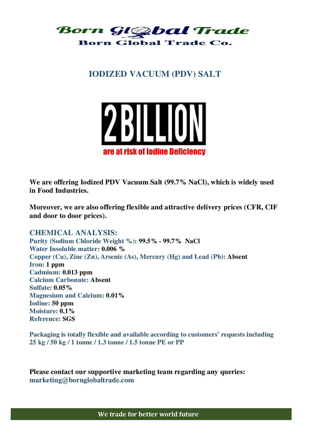 Iodized PDV Vacuum Salt