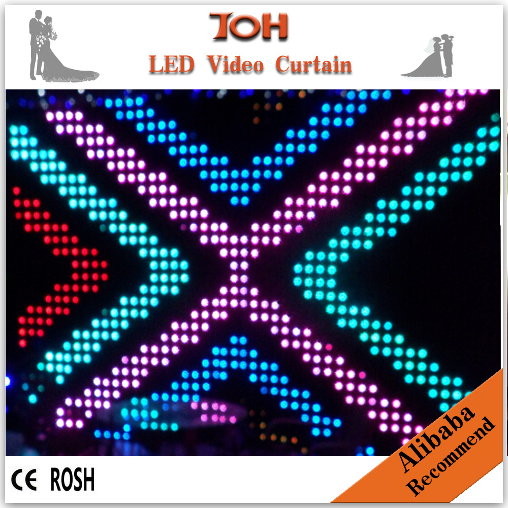 Wedding led backdrop led video curtain light