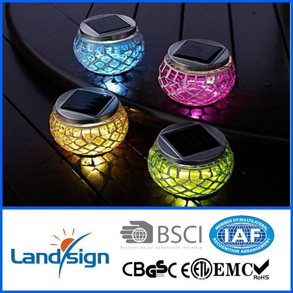 Spuer bright led outdoor lawn lamps XLTD-514 decorative mosaic jar solar lamps