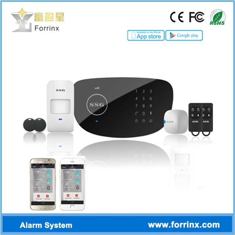 PSTN GSM Alarm System with LCD Screen