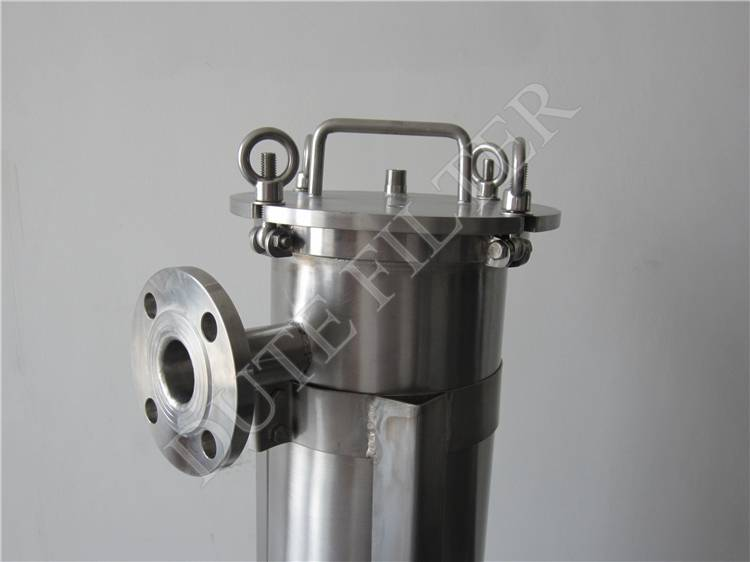 Stainless steel single bag filter housing for precision filtration