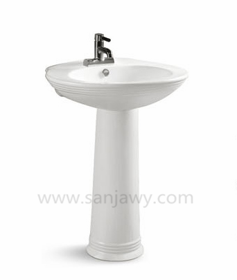Washroom Pedestal Hand Wash Basin
