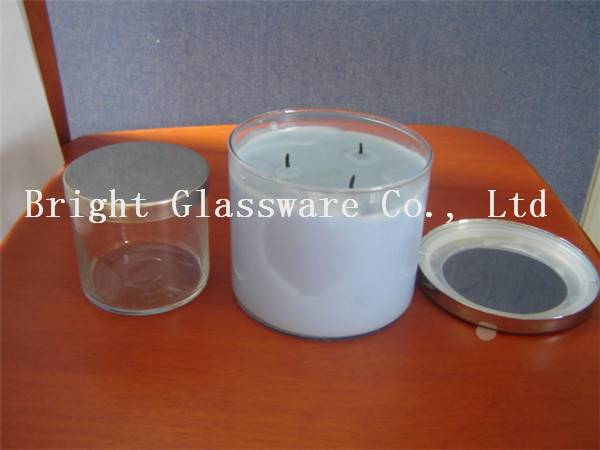 different size glass candle jar, candle container with lid
