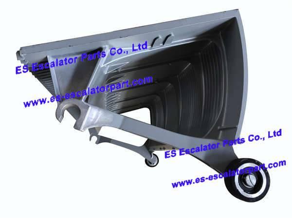 30550400 , 17050738 , Silver , Escalator step , Escalator step for THYSSEN