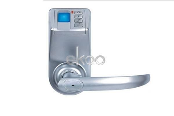 Keyless fingerprint door lock w/ reversible handle