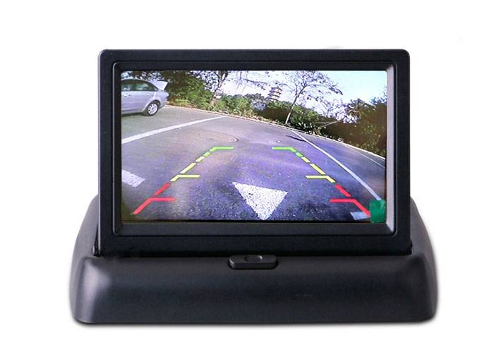 4.3inch TFT LCD Foldable Monitor Video Reversing Camera Monitor for Parking System